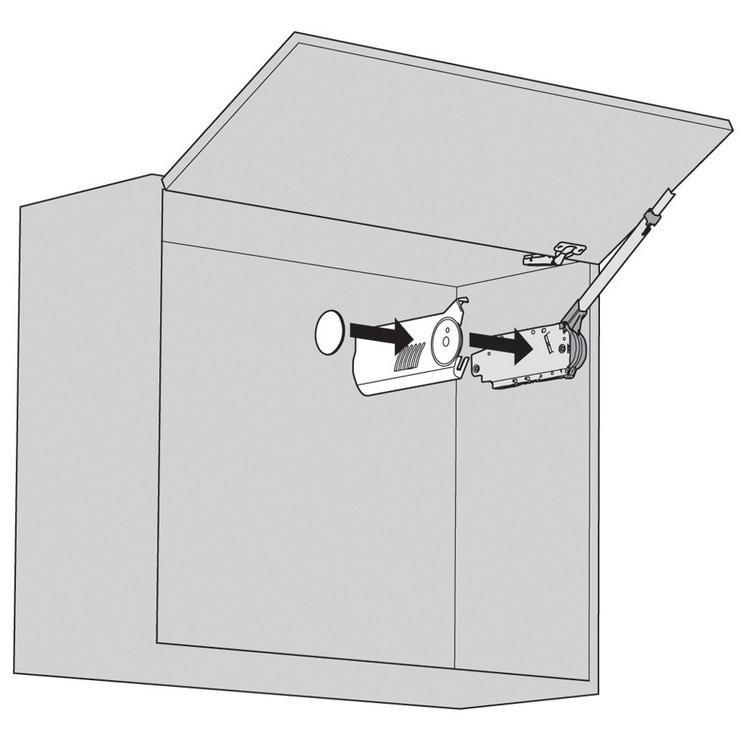 Blum 20F8000.NA Aventos HF Cover Set for List Mechanism, Right & Left Cover Plate :: Image 20