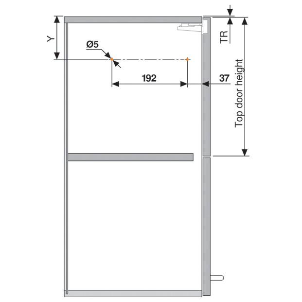 Blum 20F2200.N5 Aventos HF Bi-Fold Lift Mechanism, Power Factor 85 -230 :: Image 100