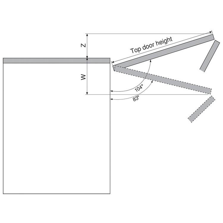 Blum 20F7051 Aventos HF 104 Degree Angle Restriction Clip :: Image 40