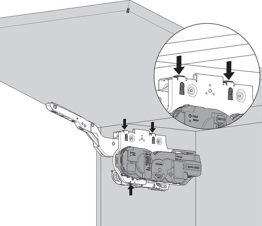 Blum 21KA000 Aventos HK Servo-Drive Drive Unit :: Image 110