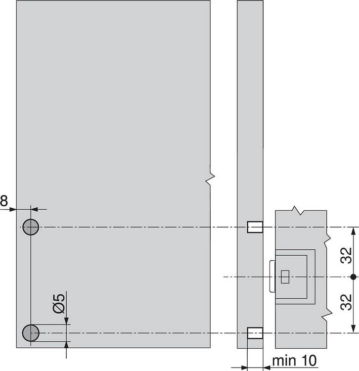 Blum 993.0531 5mm SERVO-DRIVE Door Front Distant Bumper :: Image 80