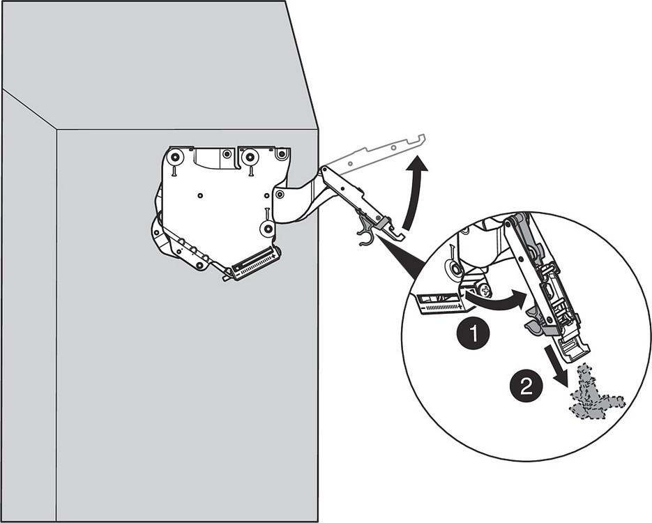 Blum 20K2B00N1 AVENTOS HK-S Lift Mechanism & Cover Set, Stay Lift System :: Image 20