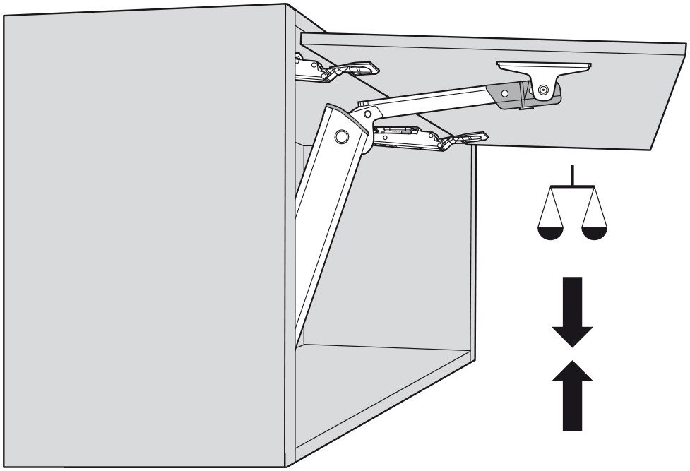 Blum 20K1501 AVENTOS HK-XS Lift Mechanism :: Image 120
