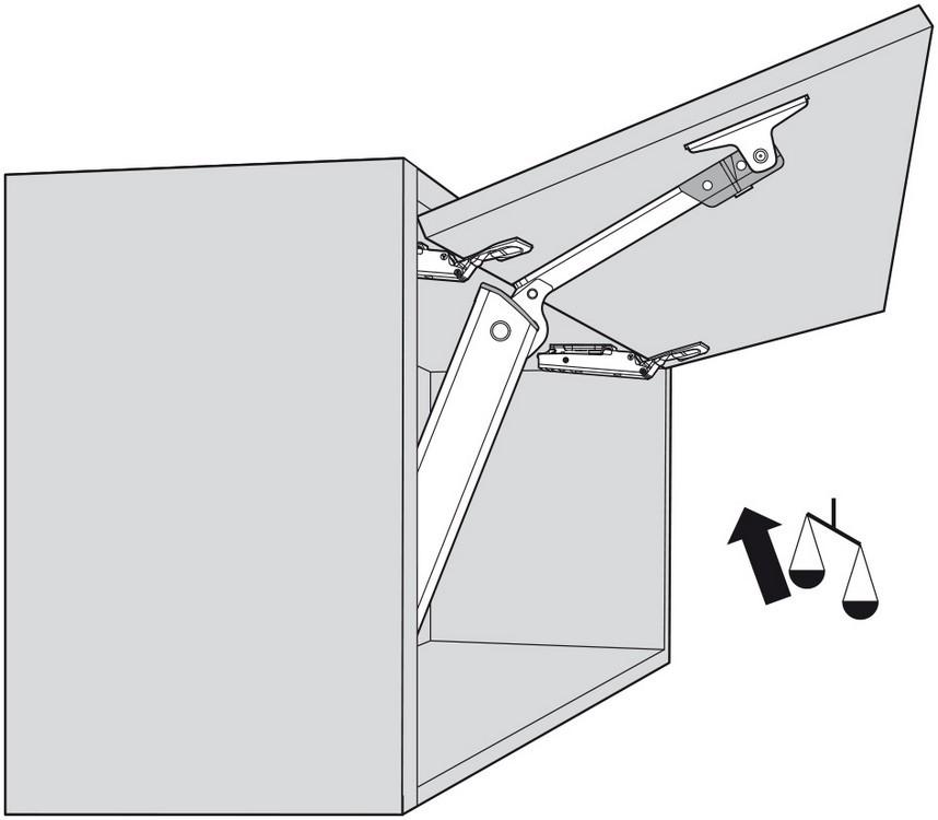 Blum 20K1301T Medium Duty TIP-ON for AVENTOS HK-XS :: Image 60