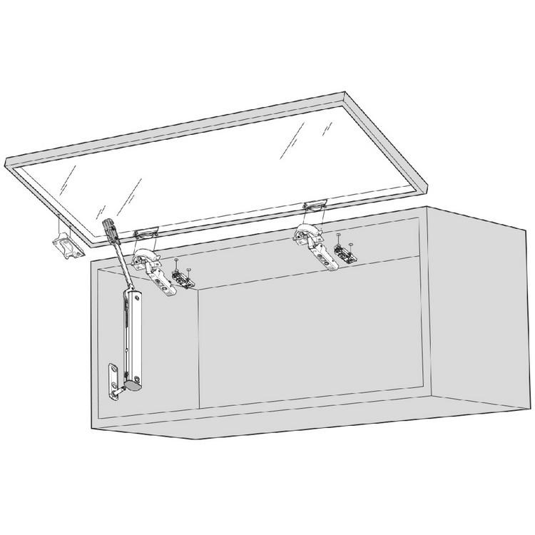 Blum 20K4101A AVENTOS HK-XS Lift System Door Mounting Plates, Narrow Aluminum :: Image 30