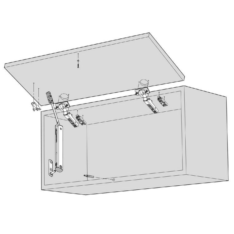 Blum 20K4101 AVENTOS HK-XS Lift System Door Mounting Plates, Wood Wide Aluminum :: Image 50