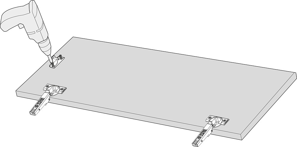Blum 20K4101 AVENTOS HK-XS Lift System Door Mounting Plates, Wood Wide Aluminum :: Image 70