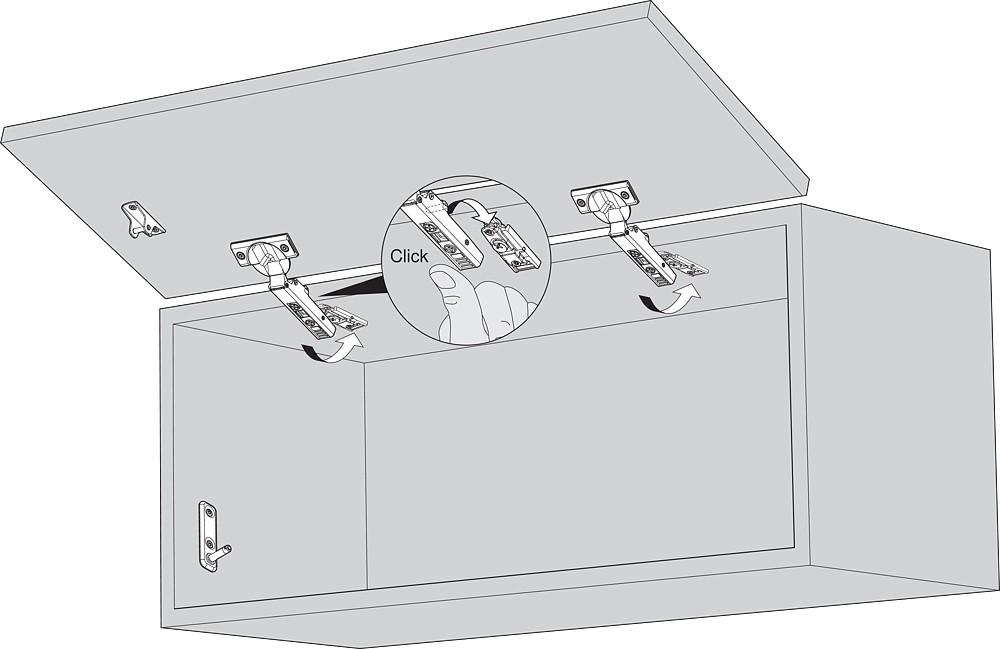 Blum 20K4101 AVENTOS HK-XS Lift System Door Mounting Plates, Wood Wide Aluminum :: Image 80