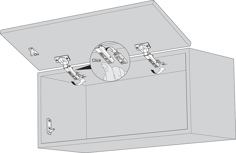 Blum 20K5101 AVENTOS HK-XS Cabinet Mounting Plates, Screw-On for Frameless Cabinets :: Image 100