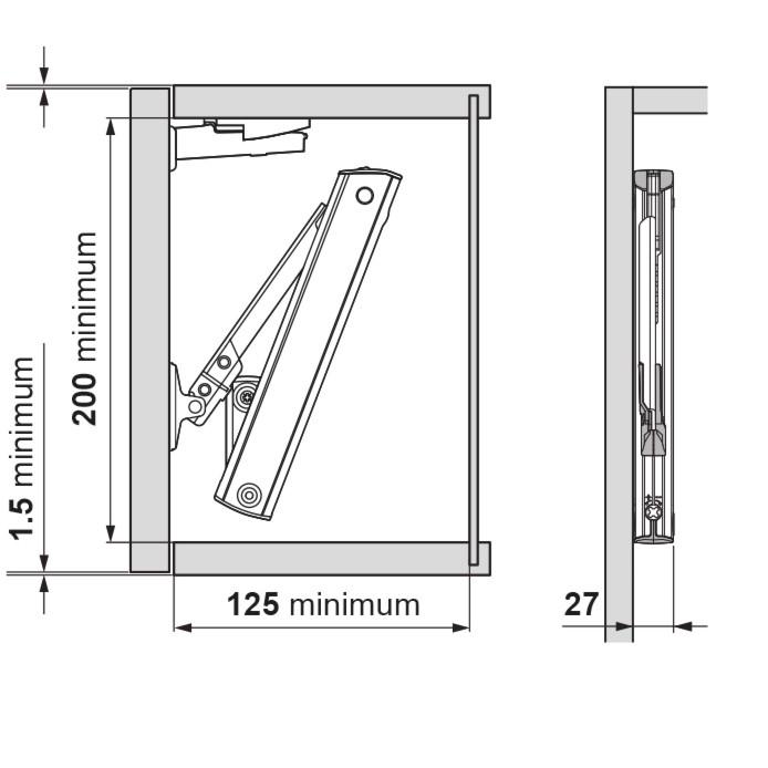 Blum 20K1501 AVENTOS HK-XS Lift Mechanism :: Image 40