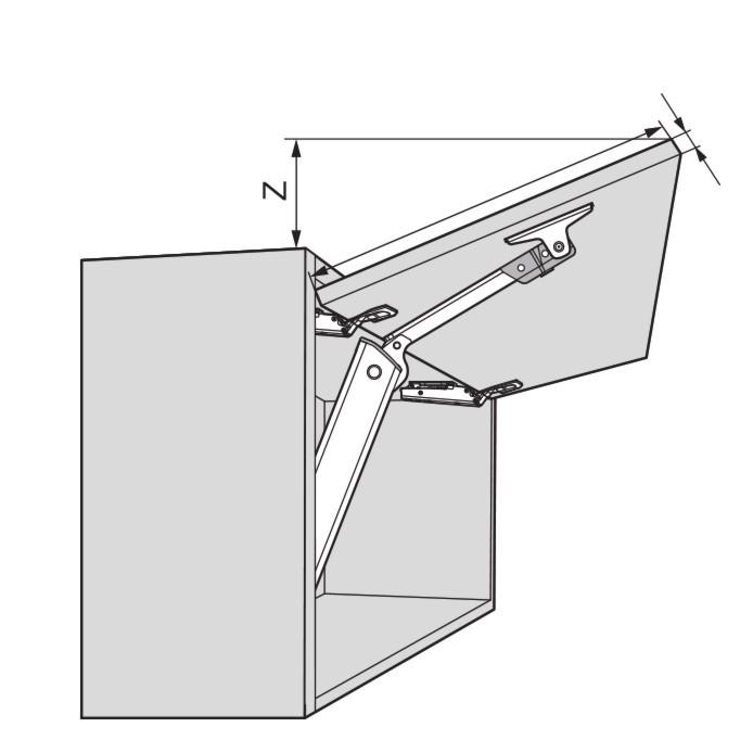 Blum 20K1101 AVENTOS HK-XS Lift Mechanism :: Image 50