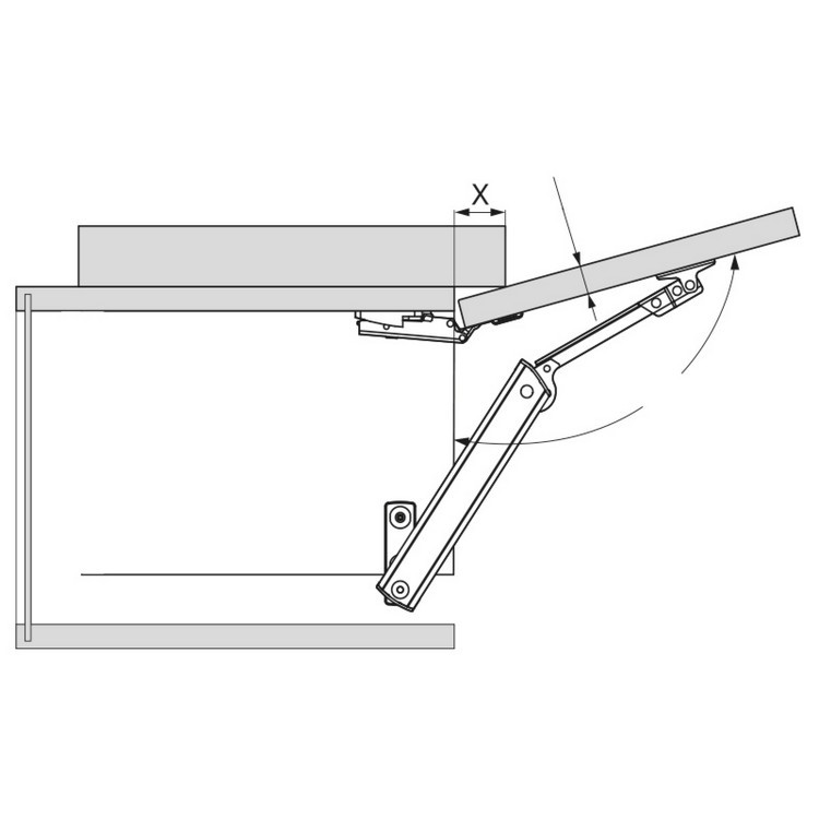 Blum 20K1101 AVENTOS HK-XS Lift Mechanism :: Image 60