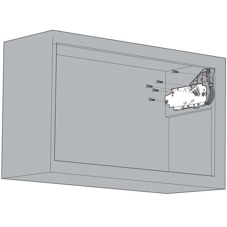 Blum 20L2900.N5 Aventos HL Lift Mechanism for Door Weight 19lbs 4oz. to 36lbs 5oz :: Image 90