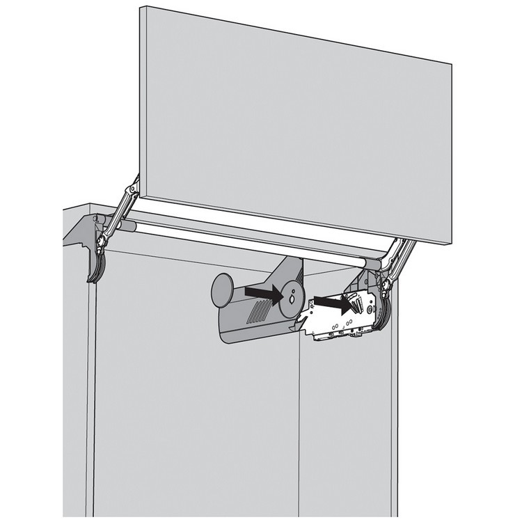 Blum 20L8000.N1 Aventos HL Cover Set for Lift Mechanism, Right & Left Cover Plate :: Image 20