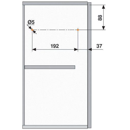 Blum 20L2500.N5 Aventos HL Lift Mechanism for Door Weight 3lbs 5oz. to 10lbs 6oz :: Image 110
