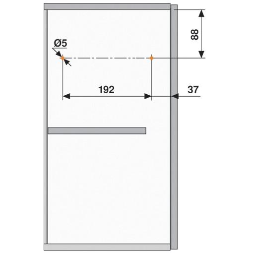 Blum 20L2900.N5 Aventos HL Lift Mechanism for Door Weight 19lbs 4oz. to 36lbs 5oz :: Image 100