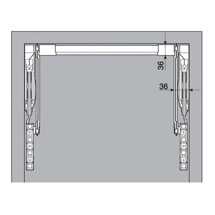 Blum 20L2700.N5 Aventos HL Lift Mechanism for Door Weight 10lbs 7oz. to 19lbs 3oz :: Image 90