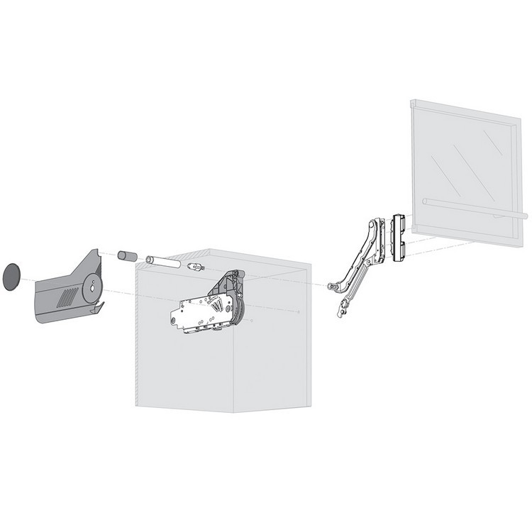 Blum 20L2500.N5 Aventos HL Lift Mechanism for Door Weight 3lbs 5oz. to 10lbs 6oz :: Image 130