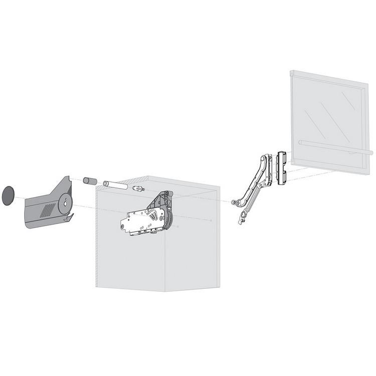 Blum 20L2900.N5 Aventos HL Lift Mechanism for Door Weight 19lbs 4oz. to 36lbs 5oz :: Image 120