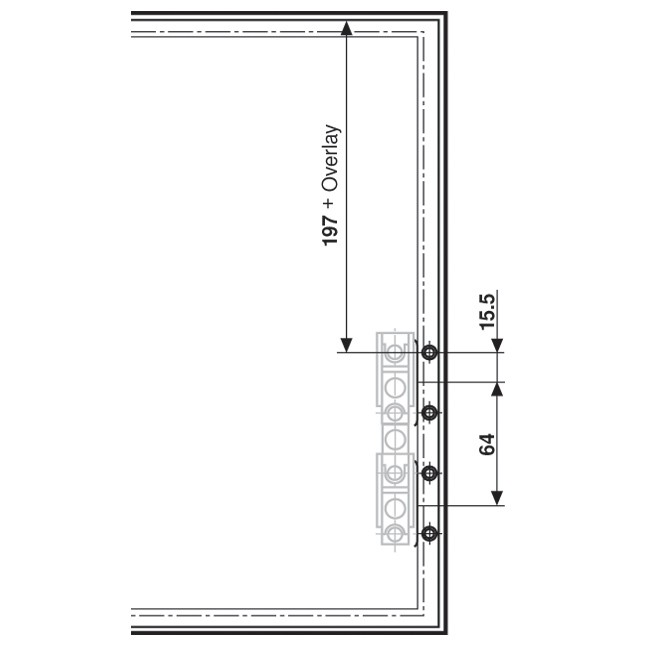 Blum 20S4200A Aventos Narrow Aluminum Door Hardware Set :: Image 70