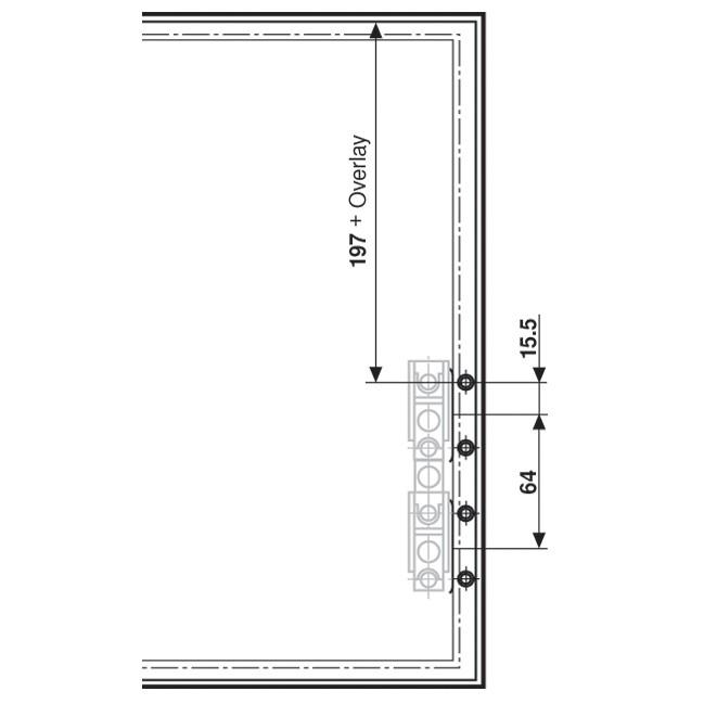 Blum 20S4200A Aventos Narrow Aluminum Door Hardware Set :: Image 30