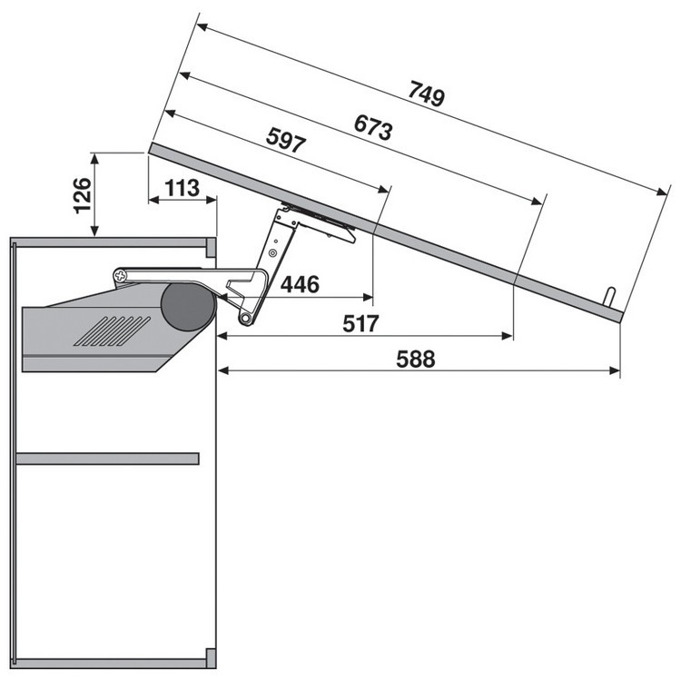 Blum 20S2F00.N5 Aventos HS Lift Mechanism :: Image 40