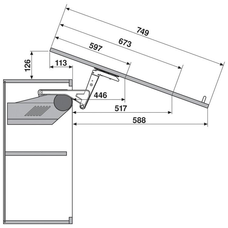 Blum 20S2G00.N5 Aventos HS Lift Mechanism :: Image 100