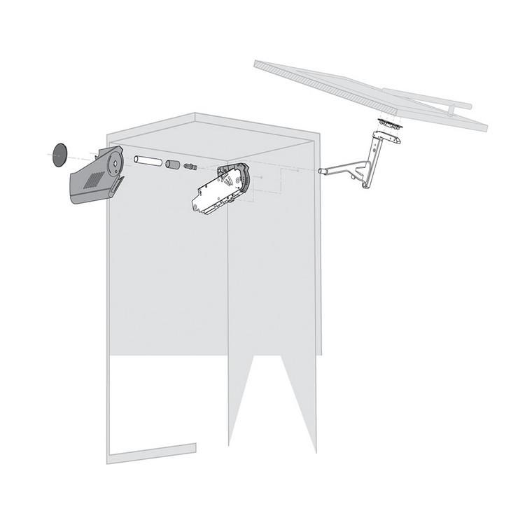 Blum 20S4200A Aventos Narrow Aluminum Door Hardware Set :: Image 40