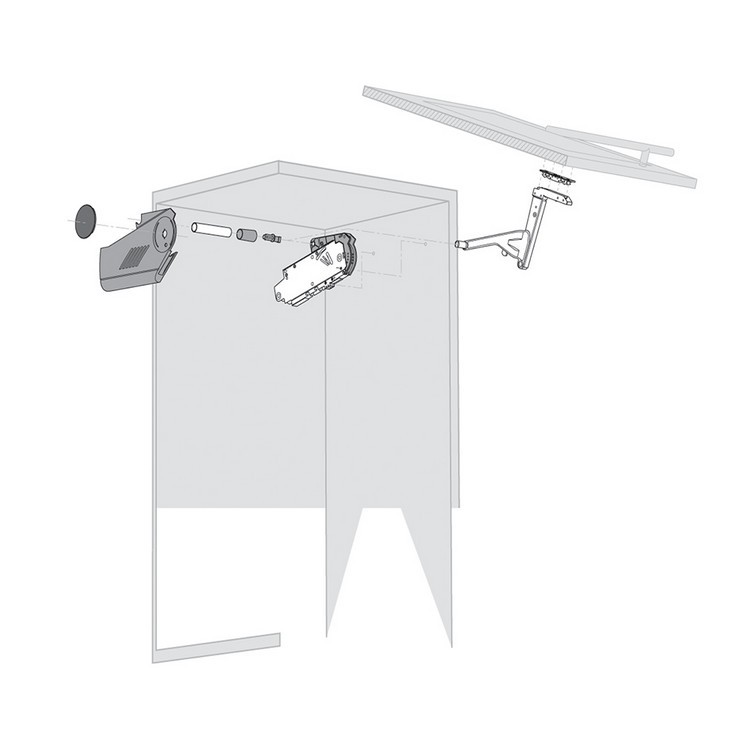 Blum 20S8000.NA Aventos HS Cover Set for Lift Mechanism, Right & Left Cover Plate :: Image 10