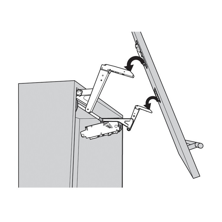 Blum 20S350006 AVENTOS HS Arm Assembly Set, Up & Over Door Lift Systems :: Image 40