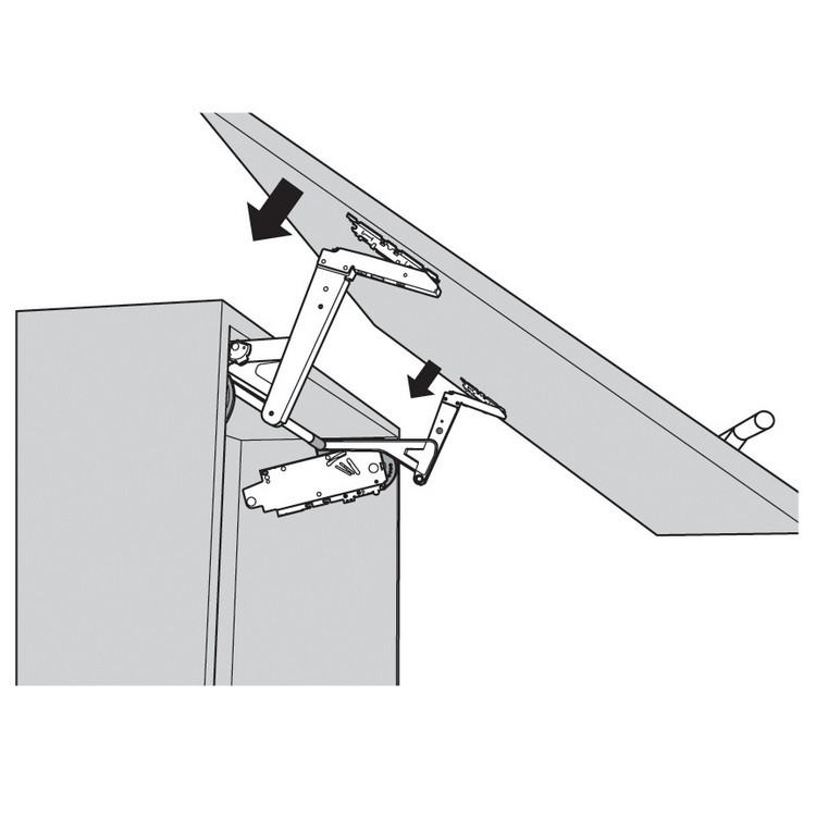 Blum 20S350006 AVENTOS HS Arm Assembly Set, Up & Over Door Lift Systems :: Image 50