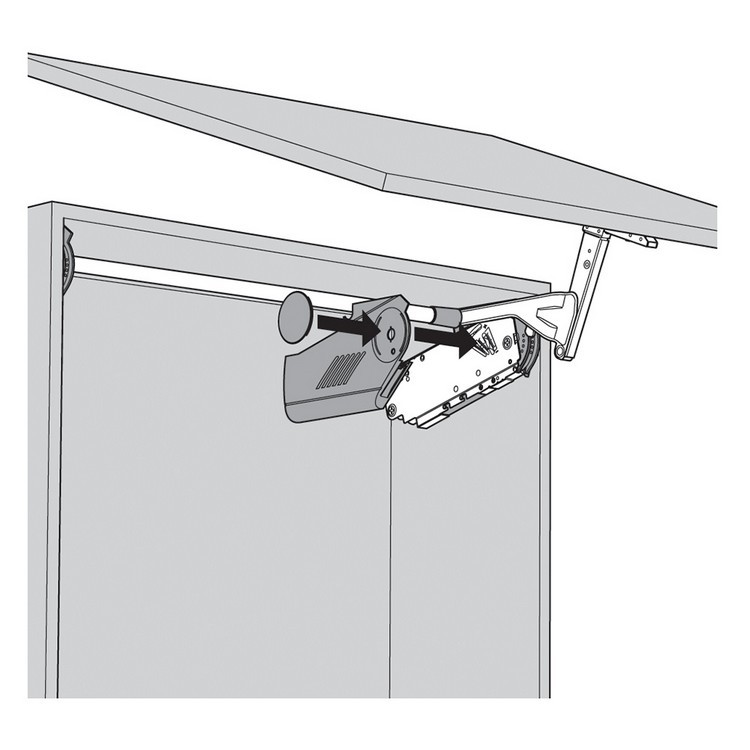 Blum 20S8000.NA Aventos HS Cover Set for Lift Mechanism, Right & Left Cover Plate :: Image 40