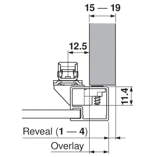 Blum 20S4200A Aventos Narrow Aluminum Door Hardware Set :: Image 50