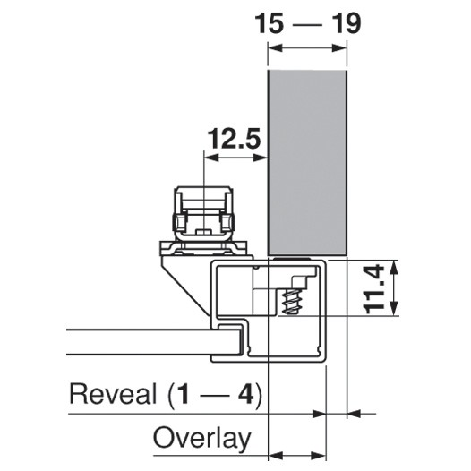 Blum 20S4200A Aventos Narrow Aluminum Door Hardware Set :: Image 10