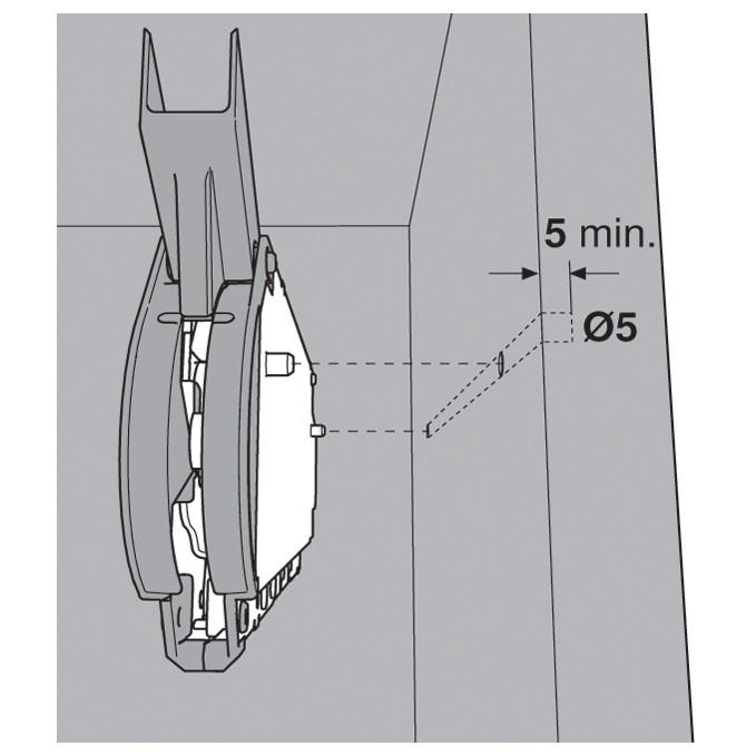 Blum 20L2300.N5 Aventos HL Lift Mechanism for Door Weight 2lbs 3oz. to 3lbs 4oz :: Image 120