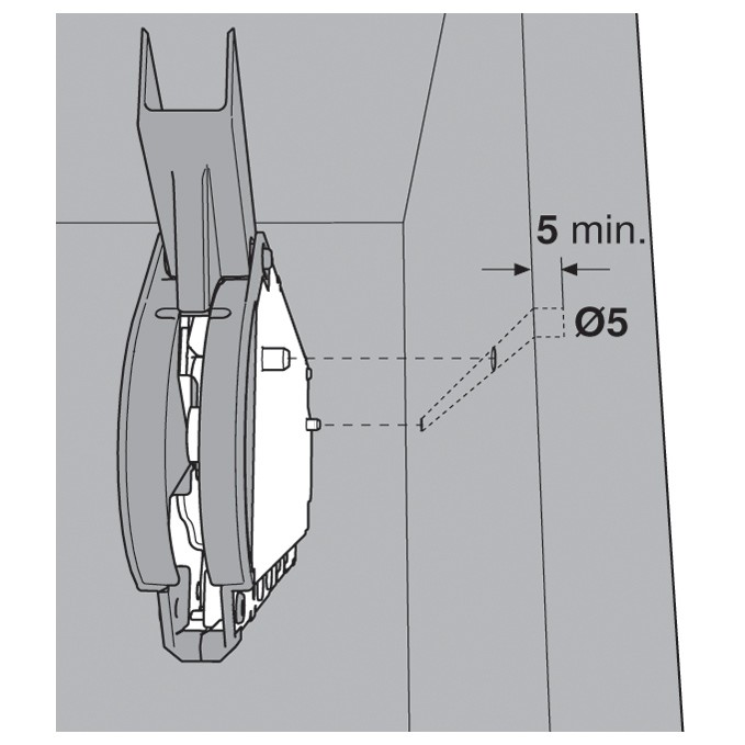 Blum 20L2500.N5 Aventos HL Lift Mechanism for Door Weight 3lbs 5oz. to 10lbs 6oz :: Image 120