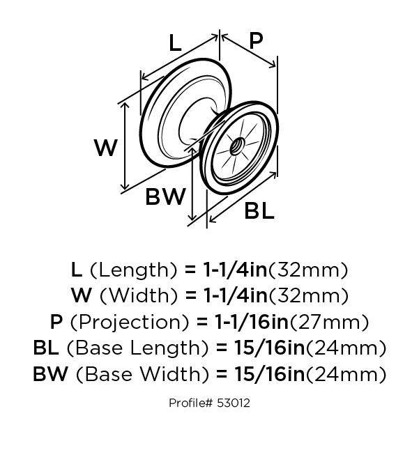 Amerock BP53012-BN Round Ring Knob, dia. 1-1/4, Black Nickel, Allison Series :: Image 10