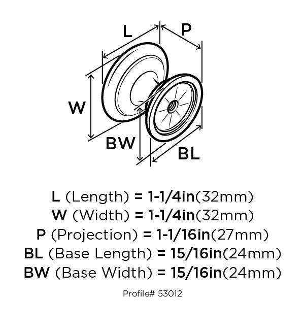 Amerock BP53012-RB, Allison Value Hardware 1-1/4 dia. Knob Roman Bronze, Allison Collection :: Image 10