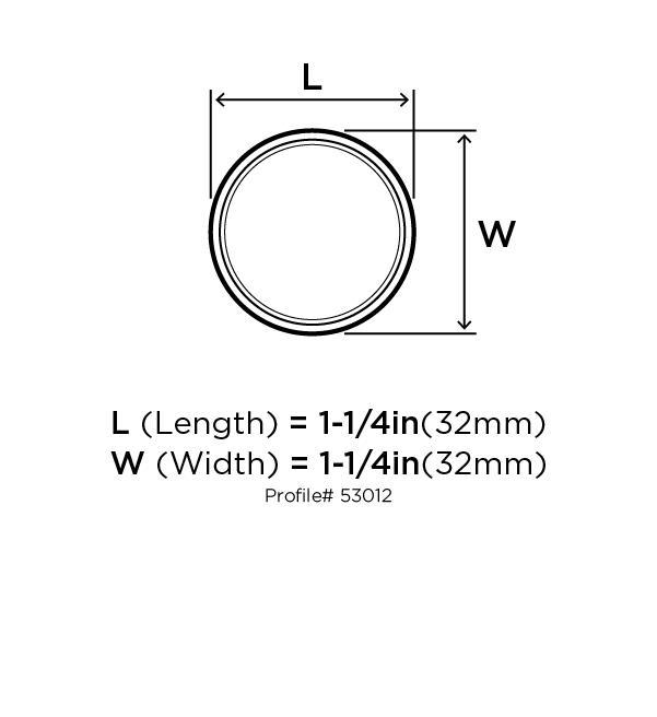 Amerock BP53012-BN Round Ring Knob, dia. 1-1/4, Black Nickel, Allison Series :: Image 20