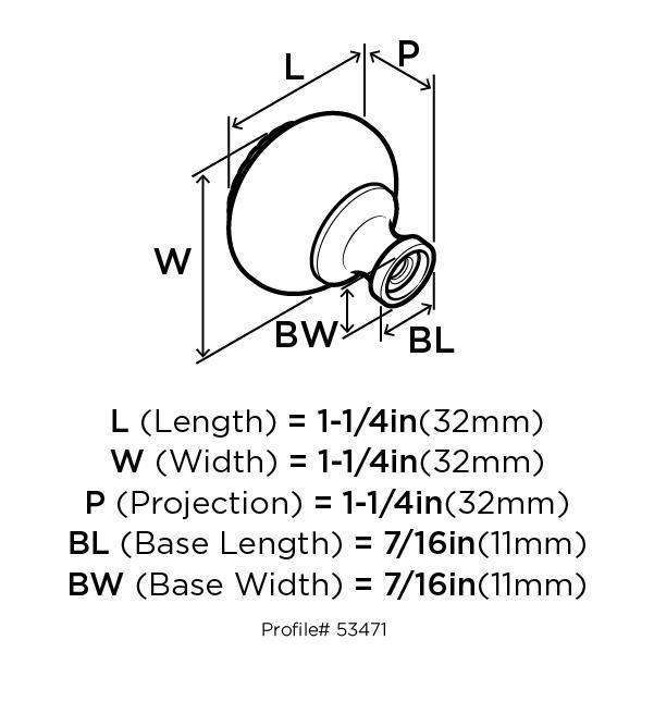 Amerock BP53471-WN Round Design Knob, dia. 1-1/4, Weathered Nickel, Allison Series :: Image 10