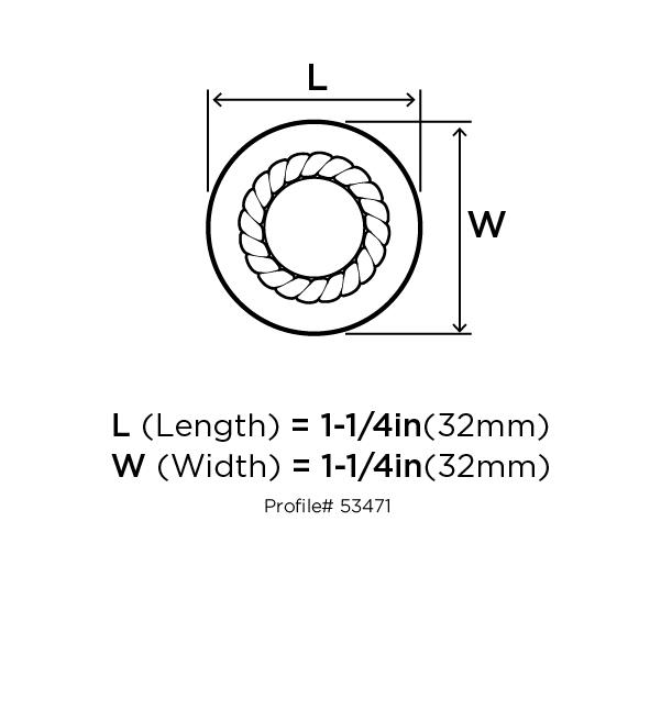 Amerock BP53471-WN Round Design Knob, dia. 1-1/4, Weathered Nickel, Allison Series :: Image 20
