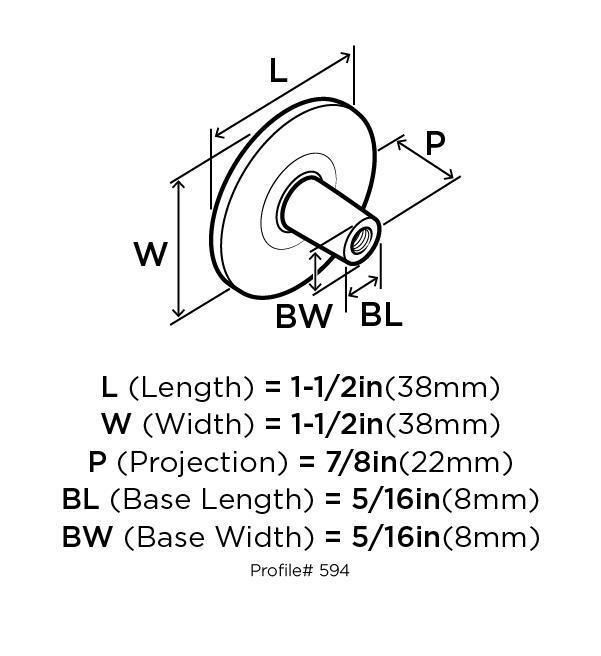 Amerock BP594-AE Round Ring Knob, dia. 1-1/2, Antique Brass, Traditional Series :: Image 10