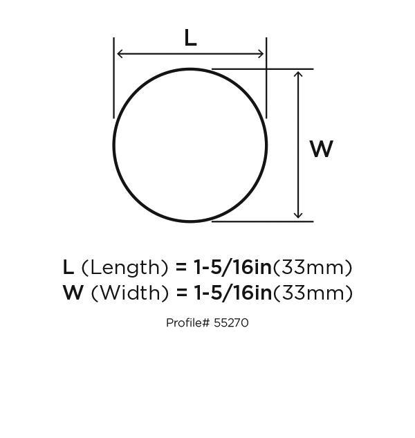 Amerock BP55270-BBR Modern Knob, dia. 1-1/3, Black Bronze, Blackrock :: Image 10