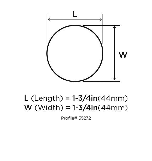 Amerock BP55272-BBR Modern Knob, dia. 1-5/8, Black Bronze, Blackrock :: Image 10