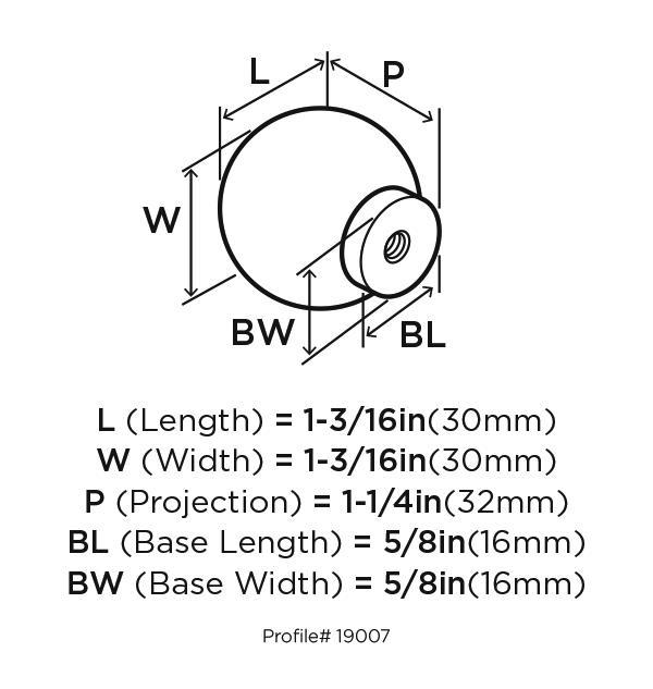 Amerock BP19007-SS Round Plain Knob, dia. 1-13/16, Stainless Steel, Stainless Steel Series :: Image 20