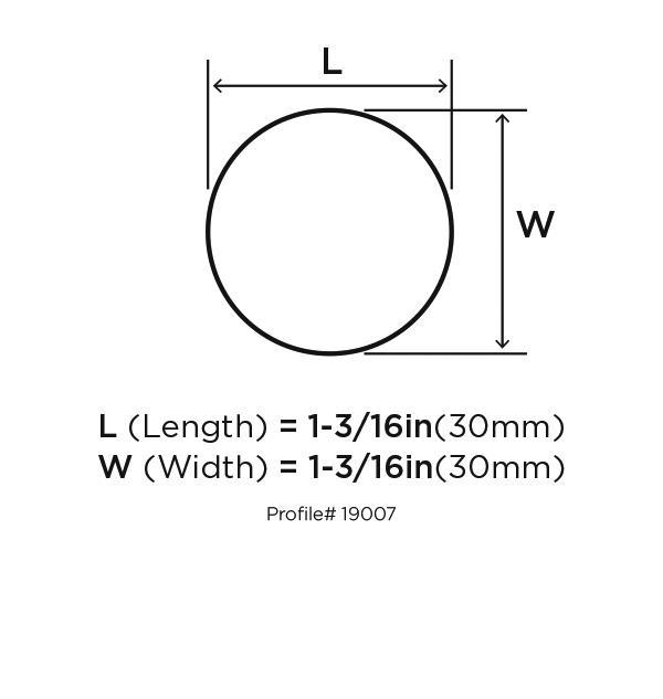 Amerock BP19007-SS Round Plain Knob, dia. 1-13/16, Stainless Steel, Stainless Steel Series :: Image 10