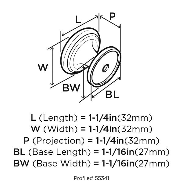 Amerock BP55341-G10 Round Ring Knob, dia. 1-2/7, Satin Nickel, Revitalize :: Image 20