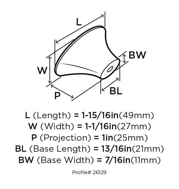 Amerock BP26129-G10 Modern Knob, Length 2in, Satin Nickel, Sleek :: Image 20