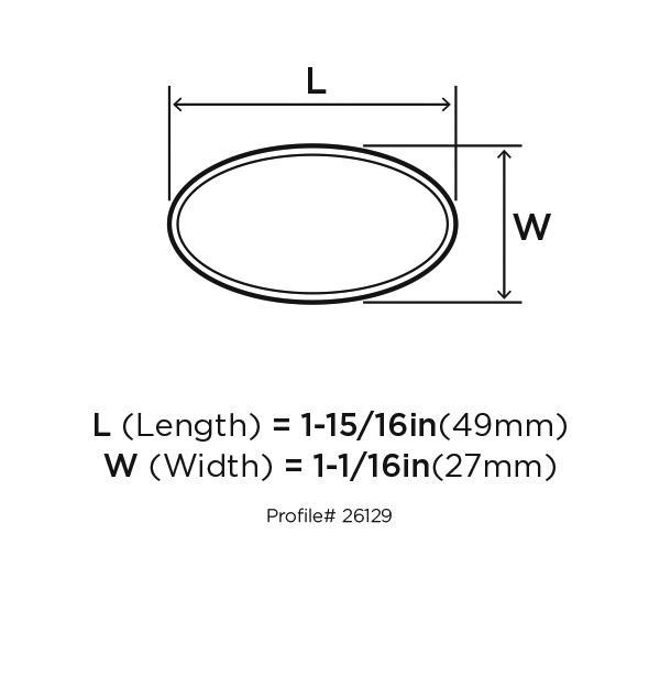 Amerock BP26129-G10 Modern Knob, Length 2in, Satin Nickel, Sleek :: Image 10