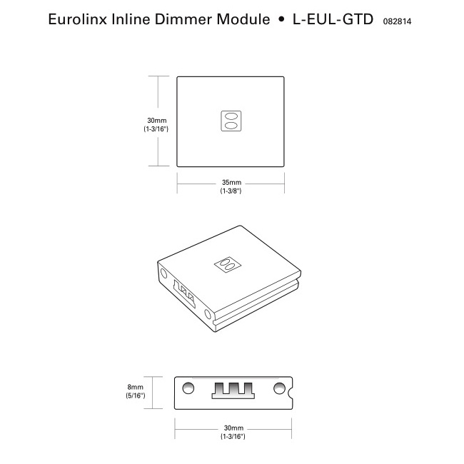 Tresco 27W Eurolinx Inline Touch Dimmer, Used with Eurolinx Lights Only, L-EUL-GTD-1 :: Image 10